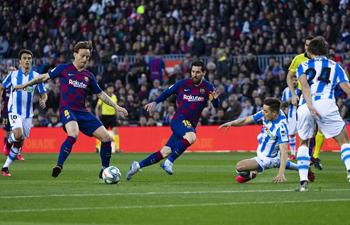 Spanish league football match: FC Barcelona vs. Real Sociedad