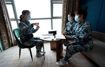 Daily life of medical workers in Huoshenshan Hospital in Wuhan