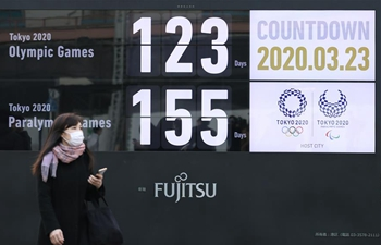Japanese gov't set to accept IOC's possible decision to delay Olympics