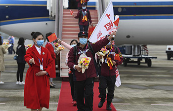 Medical assistance team from Guangxi supporting virus-hit Hubei return home