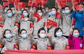 Medical workers from Jilin leave Wuhan after finishing their tasks
