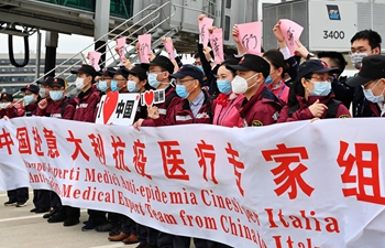 China sends third group of medical experts to Italy
