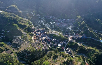 Spring scenery of Gaoyu Miao Village in south China