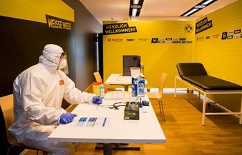 Borussia Dortmund's stadium houses COVID-19 testing center