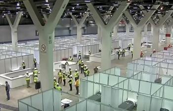 Chicago transforms auto show center into field hospital