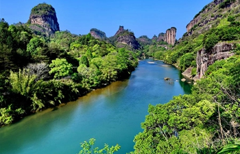 Scenic spot of Wuyi Mountain reopens to public
