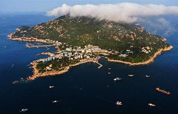 Aerial view of Wailingding island in Zhuhai, Guangdong