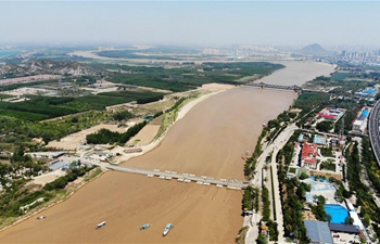In pics: view of Yellow River flowing through Jinan, E China