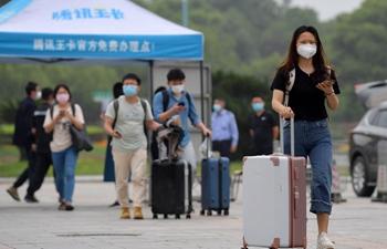 Students of Nanchang University start to return to school