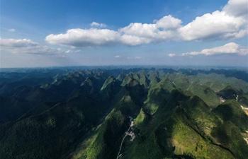 Scenery of Qibainong national geopark in Guangxi