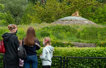 People visit Warsaw Zoo park amid COVID-19 outbreak in Poland