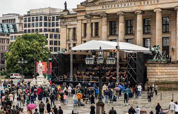 Open air concert held in Berlin