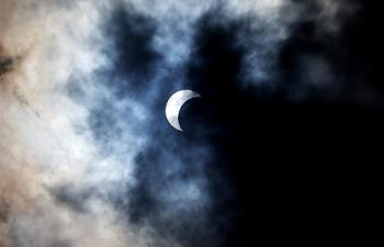 Solar eclipse seen across China