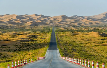 Scenery of Tengger Desert in Inner Mongolia