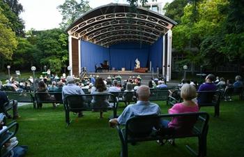 Outdoor concert held at Palm Garden in Frankfurt, Germany