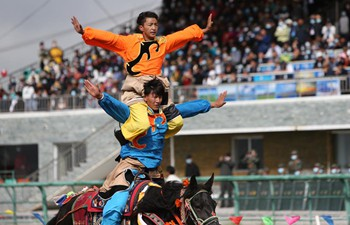 Gesar horse racing festival marked in China's Gansu