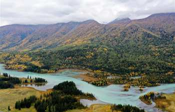 Scenery of Kanas scenic spot of Altay in Xinjiang