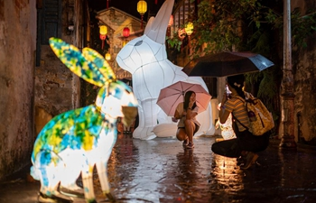 Jade Rabbit art installations displayed for upcoming Mid-Autumn Festival in Malaysia