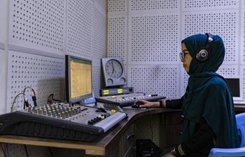 Afghan females work at local radio station