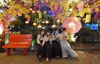 People take part in lantern fair to celebrate Mid-Autumn Festival in Malaysia