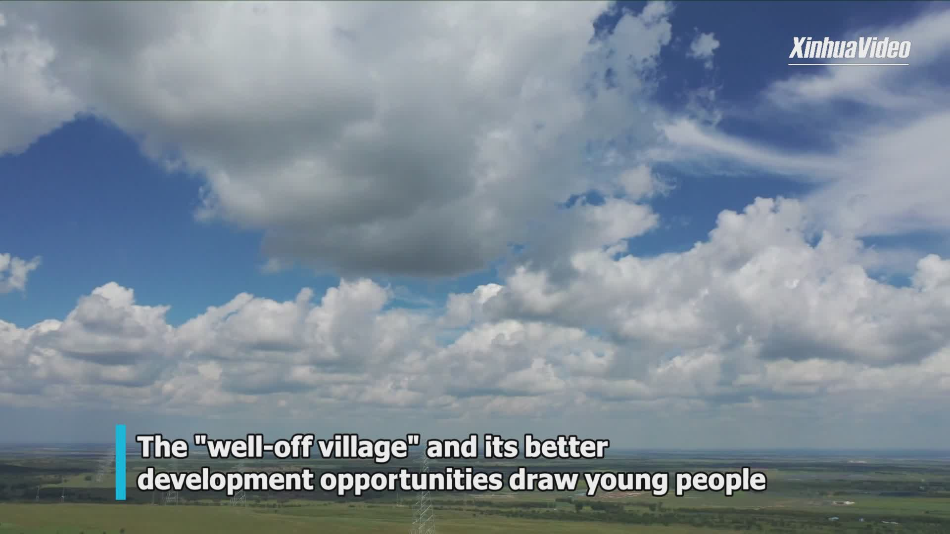 Chinese village out of poverty draws young people