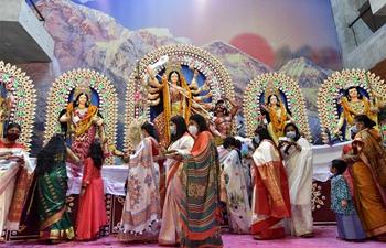 Hindu devotees celebrate Durga Puja festival in Dhaka