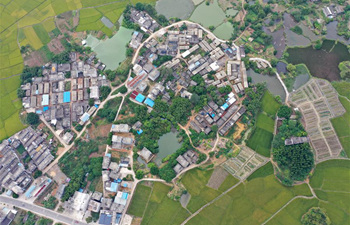 Aerial view of Gula Town in China's Guangxi