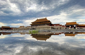 Autumn scenery of Palace Museum in Beijing