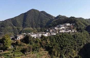 View of Mulihong Village in China's Anhui