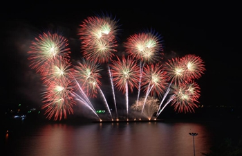 Pattaya Fireworks Festival 2020 held in Thailand