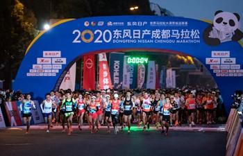 Snapshots of 2020 Chengdu Marathon