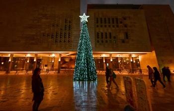 Christmas lights in Valletta, Malta
