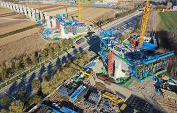 In pics: construction site of Sanhe section of Beijing-Tangshan intercity railway