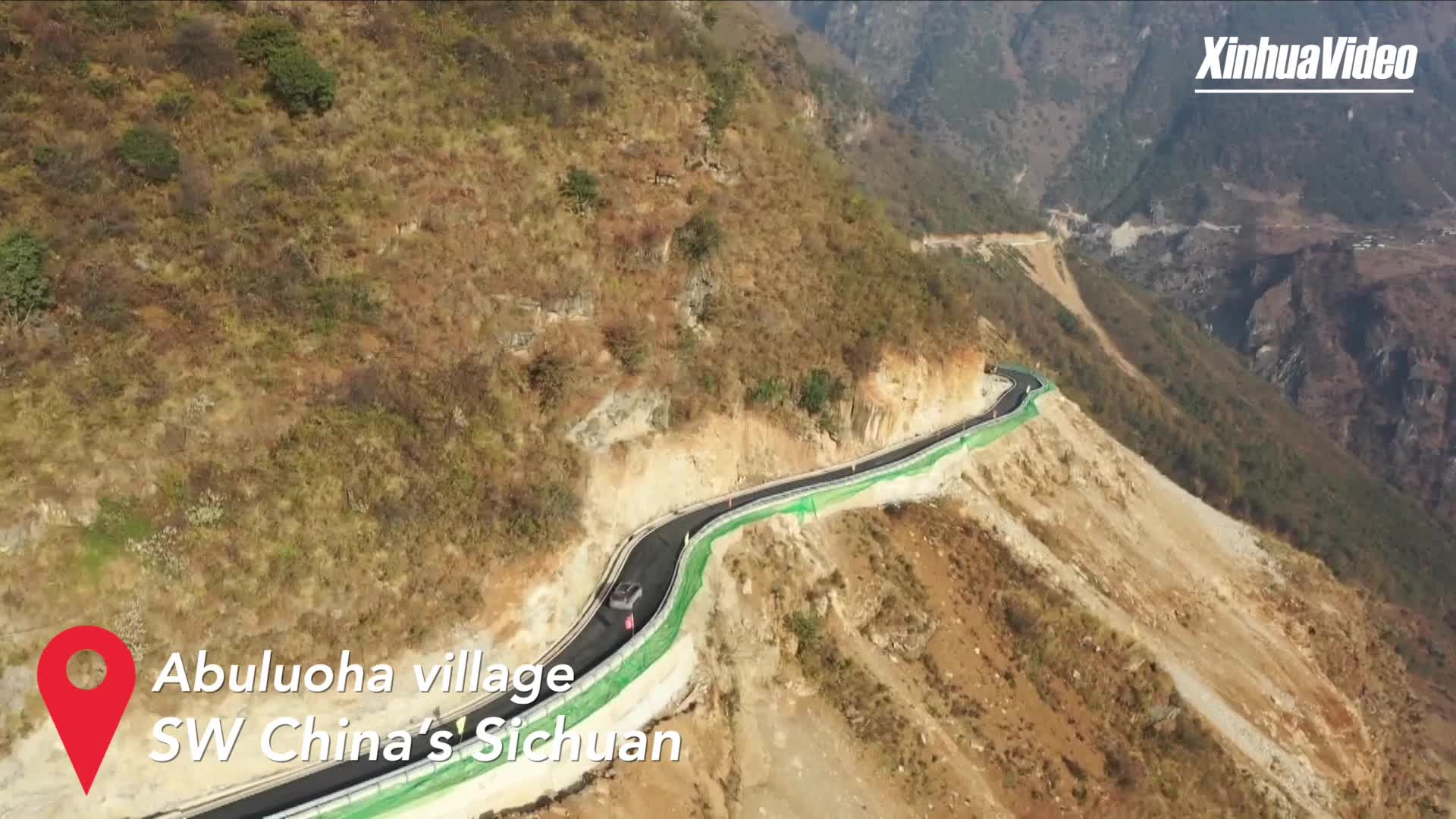 Paved road leads remote village to prosperous life