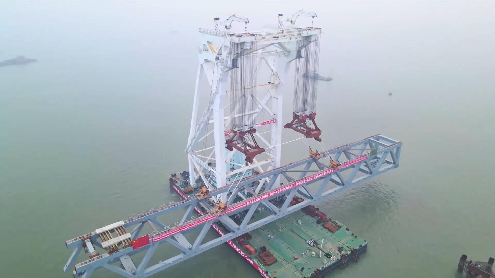 Last span of Bangladesh's biggest Padma Bridge installed