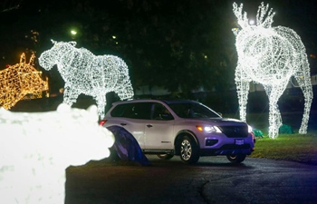 """Drive-thru """"WinterLights"""" event held at Pacific National Exhibition in Vancouver"""