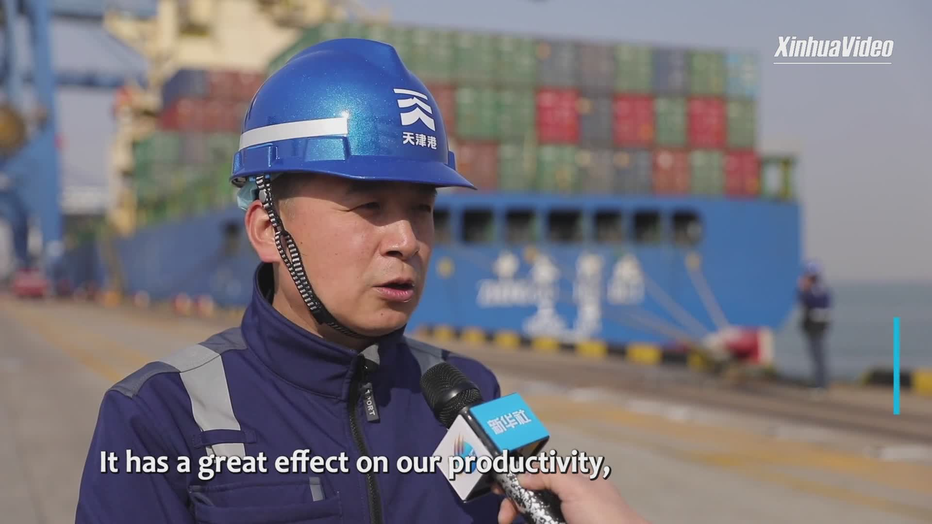 New smart tech boosts efficiency of China's Tianjin Port