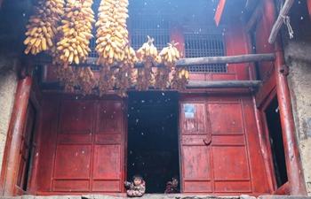 Snow scenery of countryside in Gansu