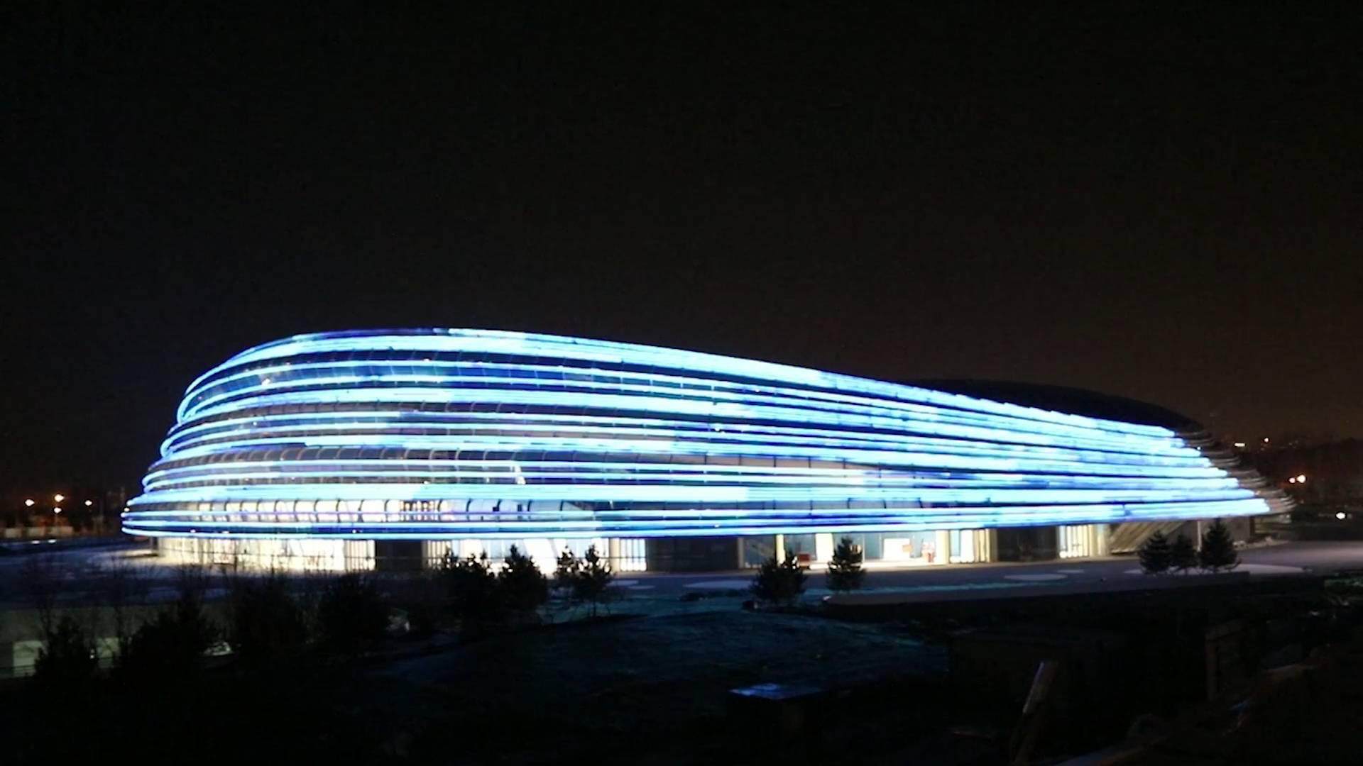 Beijing 2022 Winter Olympics speed skating venue tests lighting system