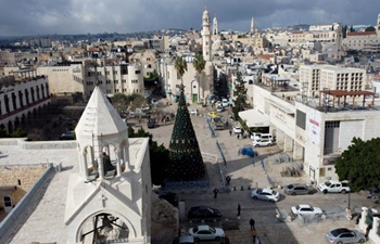View of streets ahead of Christmas eve in West Bank city of Bethlehem