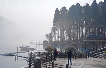 View of Mingyue Mountain scenic spot in E China