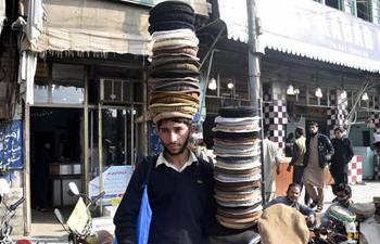 Traditional woolen caps popular among Pakistani people in winter
