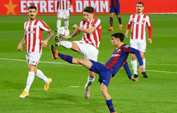 Spanish league football match: FC Barcelona vs. Athletic Club Bilbao