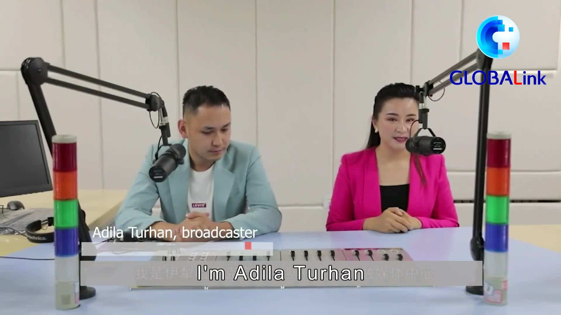 GLOBALink | #RealLifeXinjiang: Get inside local broadcast studios with a Uygur host