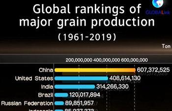 GLOBALink | Global rankings of major grain production (1961-2019)