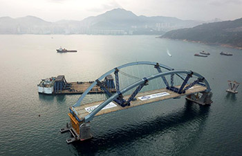 Double-arch steel bridge for Cross Bay Link in Hong Kong erected