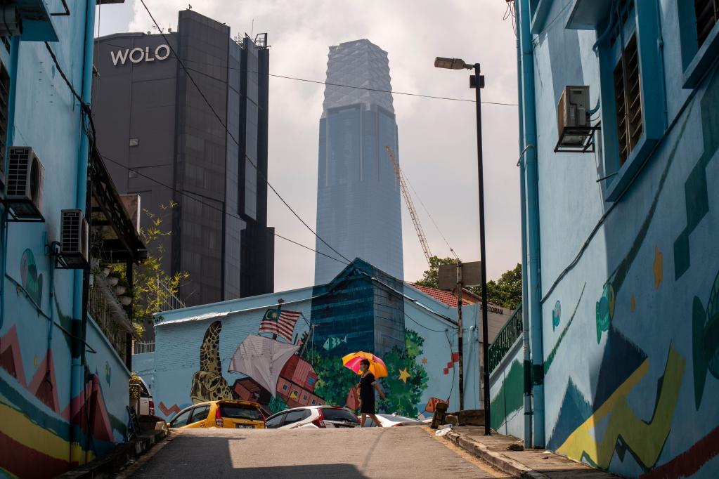 Exchange 106 tower seen in Kuala Lumpur, Malaysia