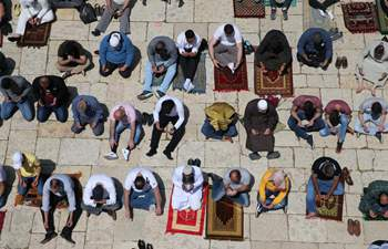 Muslims pray during holy month of Ramadan in Jerusalem's Old City