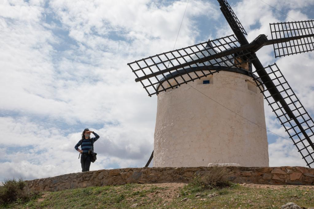 Scenery of windmills at Consuegra, Spain