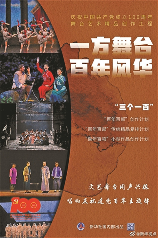 庆建党百年 文旅部推三百部舞台艺术精品